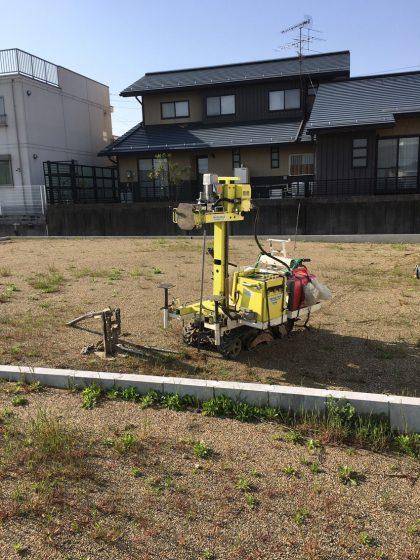 『笠松の分譲地に建つ平屋』地盤調査