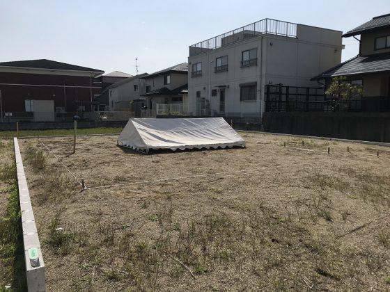 『笠松の分譲地に建つ平屋』地鎮祭