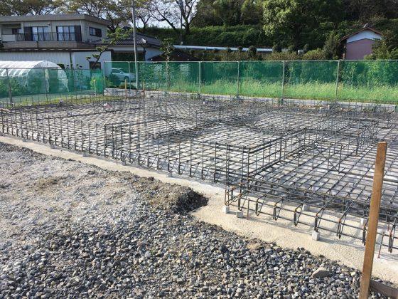 『大垣の回遊できる住まい』基礎工事